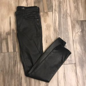 Anthropologie faux leather skinny jeans